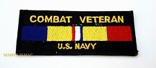 US NAVY COMBAT VETERAN HAT PATCH MILITARY USS PIN UP SAILOR CHIEF OFFICER GIFT
