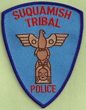 SUQUAMISH WASHINGTON TRIBAL POLICE SHOULDER PATCH