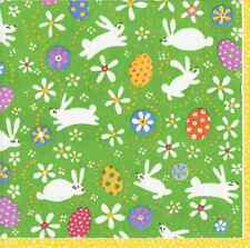 Bunny hop rabbit easter egg luxury paper table napkins serviettes 20 in pack