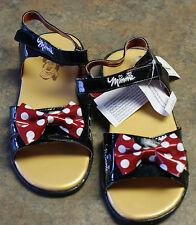 New Disney Parks MINNIE MOUSE Costume Black Shoes Sandals Girls S 11/12