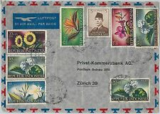 59351  -   INDONESIA - POSTAL HISTORY: COVER to SWITZERLAND - 1958 - FLOWERS