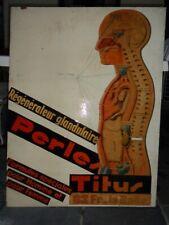 Régénérateur glandulaire Perles TITUS,panneau bois publicité,années 60