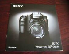 Catalogo Sony fotocamere depliant brochure reflex SLR zeiss foto photo picture