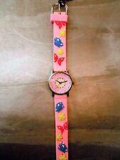 Orologio Chronostar da Bambina Rosa, fantasia Farfalle e Fiori colorati
