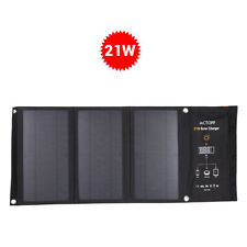 Foldable 21W 5V Solar Charger w/ 2 USB Port Power Supply Mobile for Phone Charge