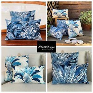 Sun Resistant Tommy Bahama Outdoor/Indoor Blue/ Beige Hampton Cushion Covers