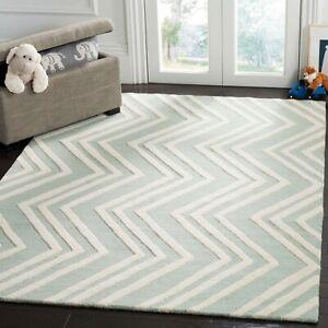 Geometric Transitional Oriental Area Rug Hand-tufted Wool Home Decor 5x8 Carpet