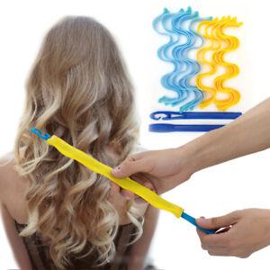 12PCS Heatless Hair Curler 30CM Portable Hairstyle Roller Sticks Styling Kit