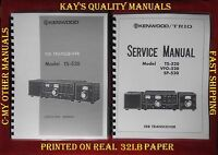 Kenwood TS-520 Instruction &Service Manual on 32LB w/Foldout schematic