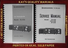 Kenwood TS-520 Instruction & Service Manuals on 32LB Paper w/The Heavier Covers
