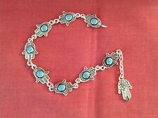 """Arabo Marocchino Berbero Jewelry: Hamza """"Mano di Fatima"""" Bracciale Turchese centri"""