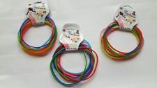 NEW TREND 10pcs  SILICONE NON SLIP HAIR ELASTICS 4cm SNAG FREE PONY TAIL BANDS