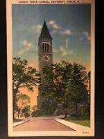 Vintage Postcard>1915-1930>Library Tower>Cornell University>Ithaca>N.Y.