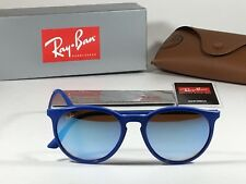 New Authentic Ray-Ban Round Phantos Wayfarer Sunglasses Metal Blue Flash RB4274