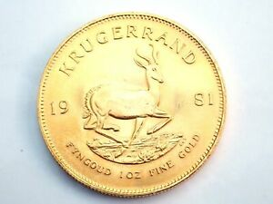 1981 Gold 999.9 1oz South Africa Krugerrand Bullion Coin #0051