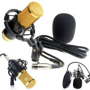 BM800 Pro Kondensator Mikrofon Microphone Kit Komplett Set für Studio Aufnahme