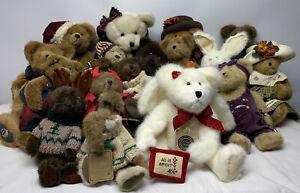 Boyd's Bears Plush Lot Of 17, Bears, Bunny, & More
