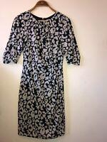 Ladies Whistles Dress Size 10 Full Back Zip Fitted Silk Elastane