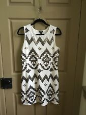EXPRESS Sequin Aztec Party Dress - Size Large - Ivory - New With Tags