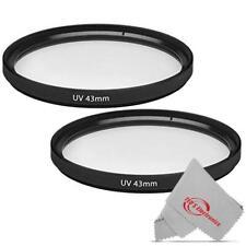 2 Pcs 43mm Uv Ultraviolet Haze Glass Filter for Canon Ef-M 22mm 28mm Stm Lens