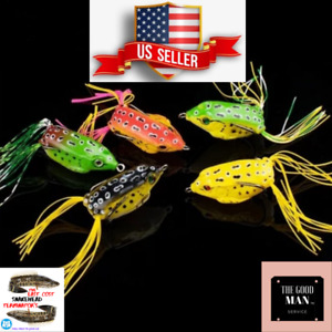 Frog Topwater Soft Fishing Lure SNAKHEAD 2.5in 1/4 oz Bass Fishing Bait NEW USA