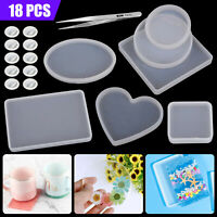 Silicone Coasters Pendant Jewelry Mold Resin Casting Mould DIY Epoxy Making Tool