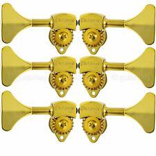 "NEW Hipshot USA HB6 3/8"" Ultralite® Bass Tuning L3+R3 Set Y Key 3x3 - GOLD"