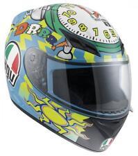 New AGV K3 Wake Up Full-Face Adult Helmet, Valentino Rossi, Large/LG