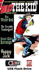 HUGE Billy the Kid Comic Books 48 Comics on 16GB USB Flash Drive - PDF Files