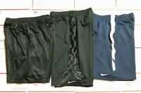 "Lot of 3 Nike Hibbett Shorts Men Size 24"" Waist Black Blue Dri Fit Athletic   TQ"