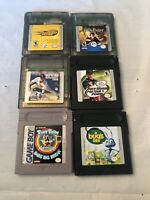 Nintendo Gameboy & Gameboy Color Lot Of 6 Games Woodys Harry Potter Tiny Toons