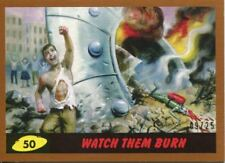 Mars Attacks The Revenge Bronze [25] Base Card #50 Watch them Burn