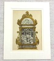 1857 Antico Stampa Italiano Natività Scena Religioso Chiesa Altare Decorazione
