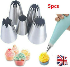 5Pcs Large Size Icing Piping Nozzles Tips For Pastry Cake Sugarcraft Decorating