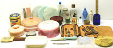 Vintage Womens Beauty Cosmetics Powder Puffs Wright's Face Cream Musk Perfumes