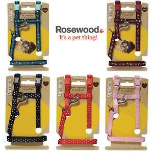 Rosewood Small Animal Gentle Harness & Lead Set Rabbit Ferret Guinea Pig