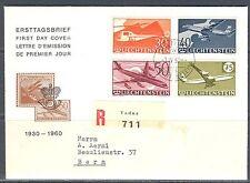 LI - LIECHTENSTEIN 1960 Air mail FDC