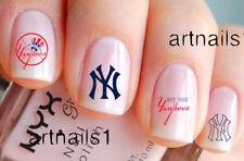 NY Yankees Baseball Sports Nail New York Art Water Decals Stickers Salon Polish