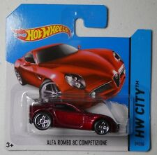 Hot Wheels 2014 #029/250 ALFA ROMEO 8C COMPETIZIONE red New Casting 2014 HW CITY