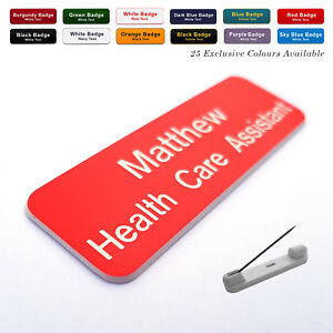 PIN Custom ID Engraved Name Badge for Pharmacy Nurse Doctor Dentist A&E Hospital