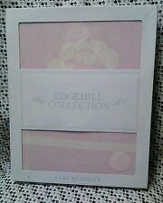 "Edgehill Collection Receiving Blanket 30""x30"" Baby Girl Pink Sheep Lamb Keepsake"