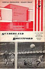 1967 (Jan. 28) Soccer program,F.A. Cup 3rd Rnd.,Sunderland vs. Brentford Wembley