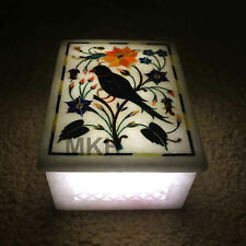 Decorative Marble Jewelry Box Inlay Lapis Pietra Dura Handicrafts Wedding Boxes