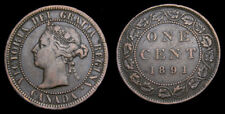 Canada 1891 Cent Small Date Small Leaf Obv. 2 F-15