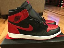 Nike Air Jordan 1 Retro High OG Banned Bred Black Red 555088-001 Men's Size 17