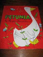 E695) beau Ancien livre pour enfants Petunia Roger Duvoisin en anglais 1977