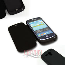 2000MAH EXTERNAL BACKUP BATTERY CHARGER POWER CASE COVER BLACK GALAXY S III MINI