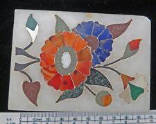**VERY NICE Pietra Dura FLOWER Picture Trinket BOX