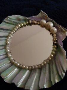 Mermaid Inspired Mini Hand Vanity Mirrors