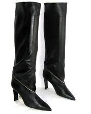 CHARLES JOURDAN Bottes genoux façon guêtres cuir veau noir 7 = 38 EXCELLENT ETAT
